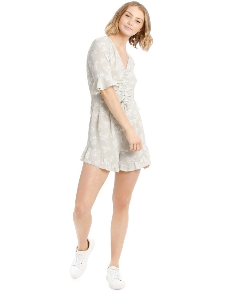 Seafoam Stamp Print Ruched Playsuit image 1