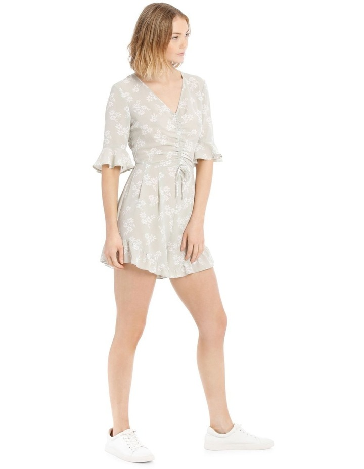 Seafoam Stamp Print Ruched Playsuit image 2