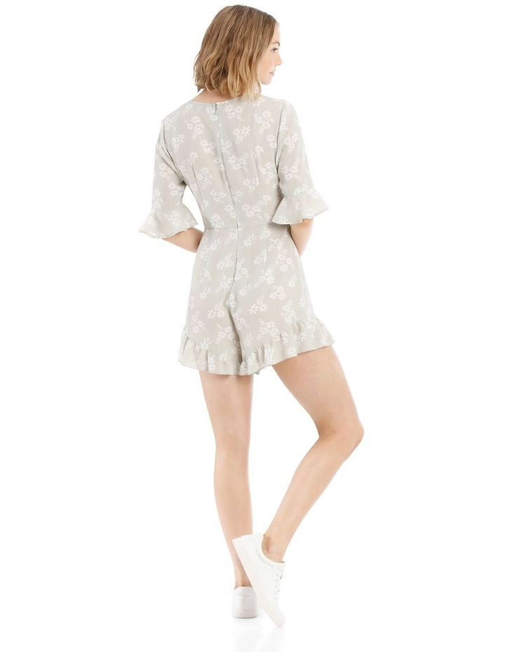 Seafoam Stamp Print Ruched Playsuit image 3