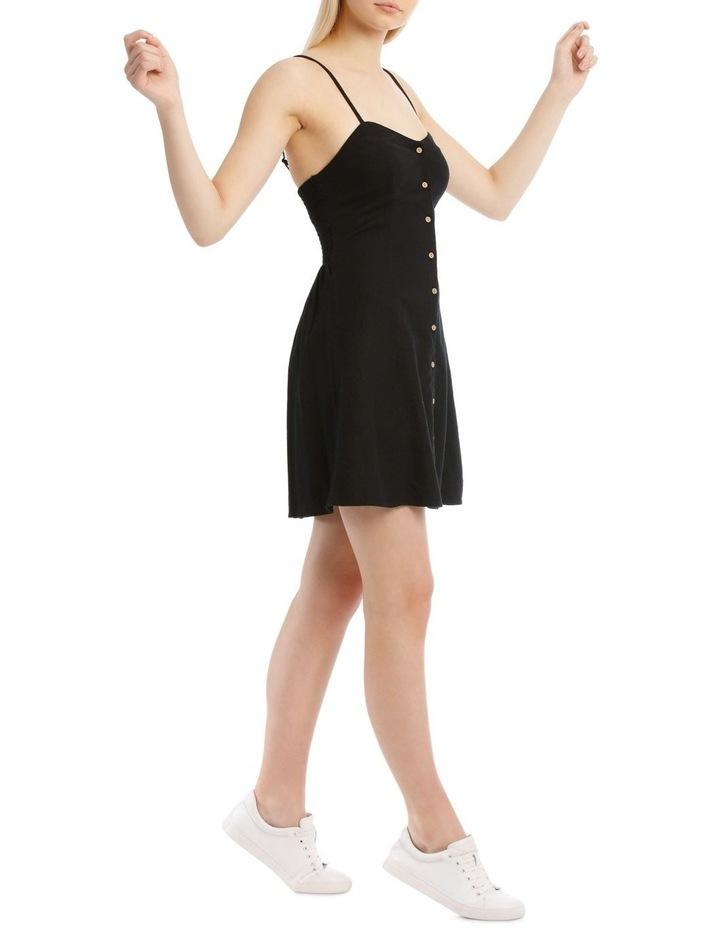 Linen Blend Button Detail Dress image 2