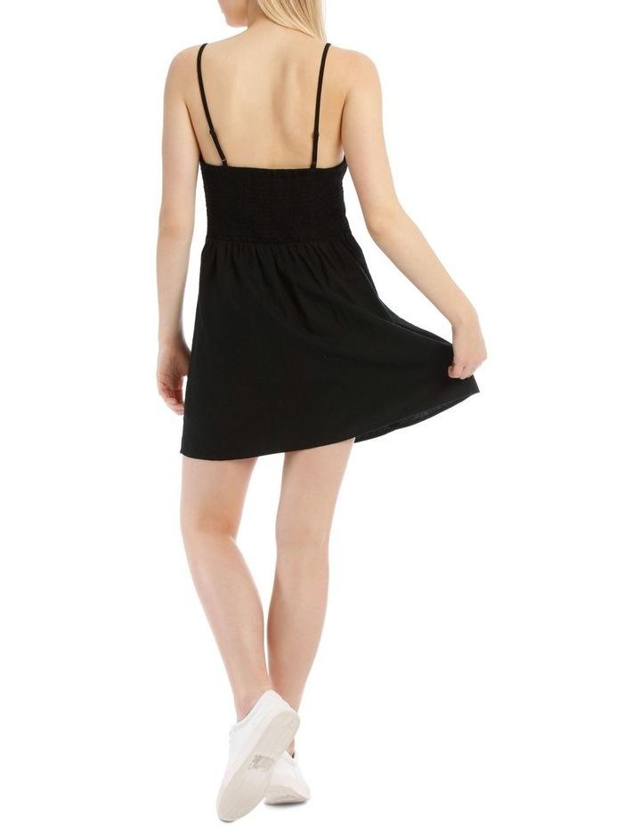Linen Blend Button Detail Dress image 3