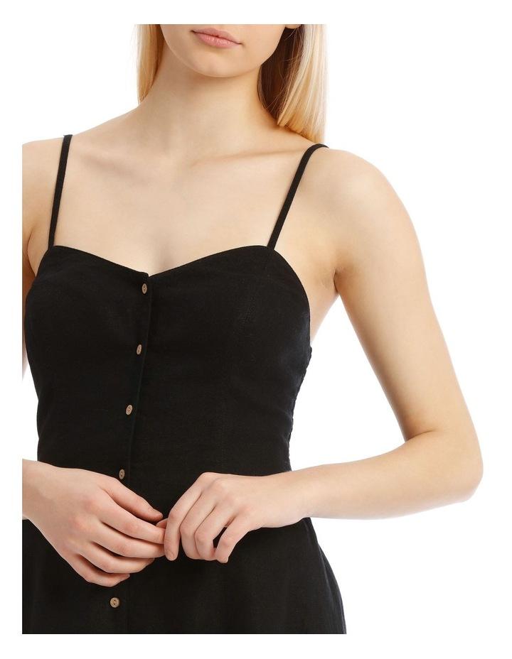 Linen Blend Button Detail Dress image 4