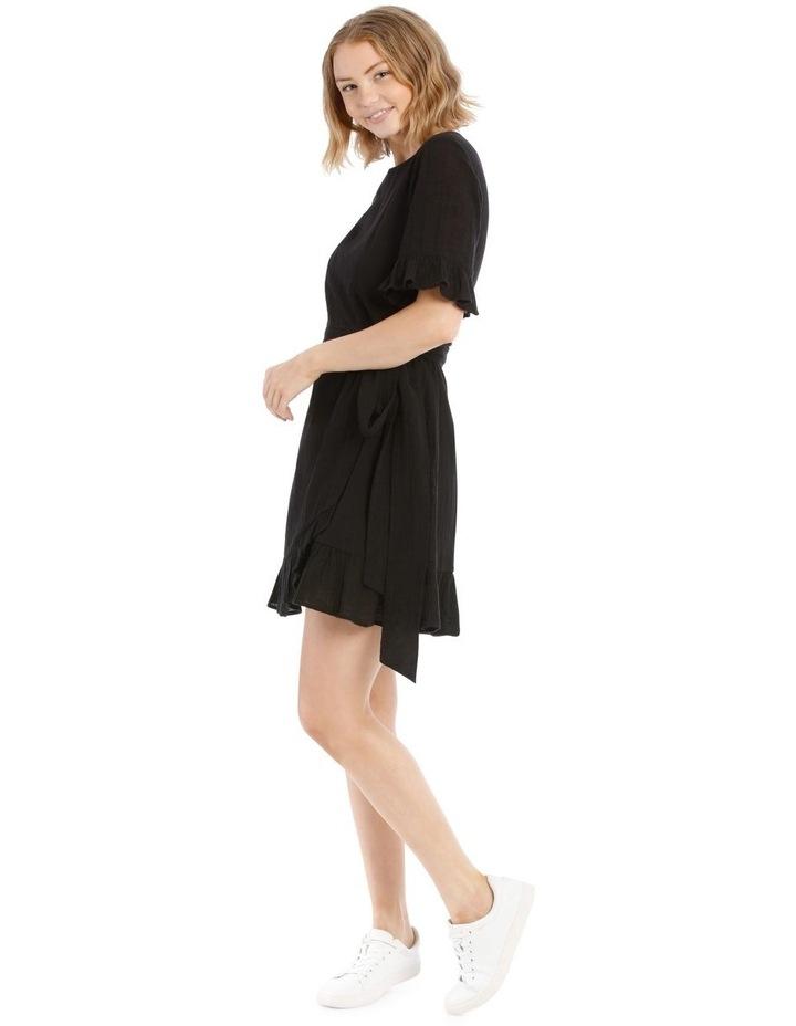 Textured Cotton Wrap Dress image 2