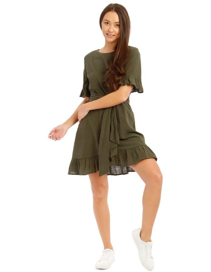 Textured Cotton Wrap Dress image 1