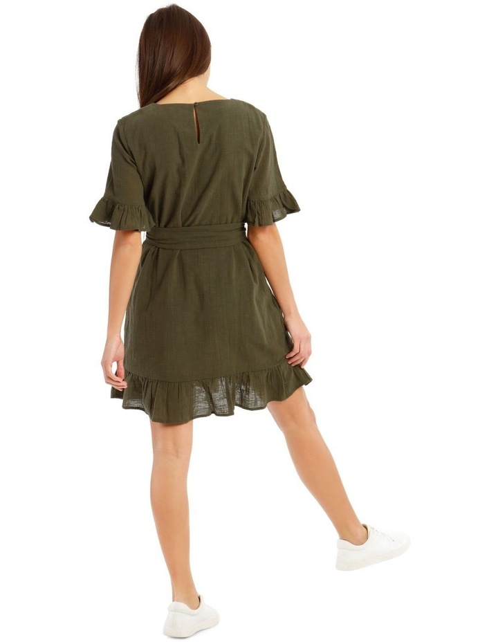 Textured Cotton Wrap Dress image 3