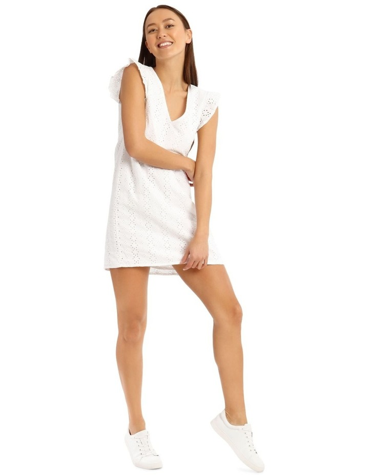 Broderie Ruffle Wrap Dress image 1