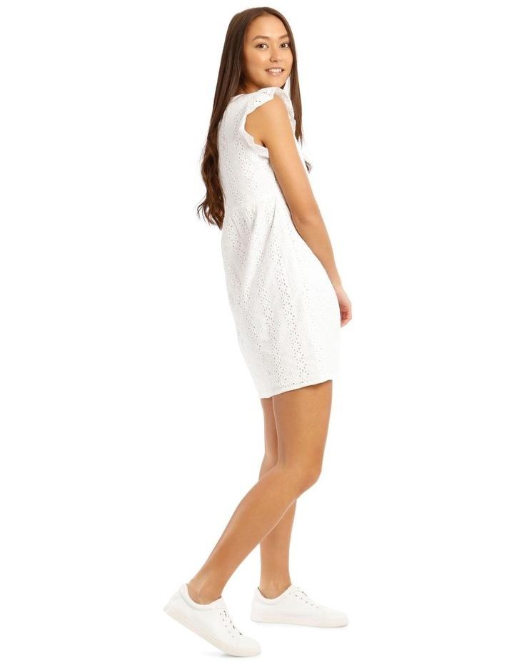 Broderie Ruffle Wrap Dress image 2