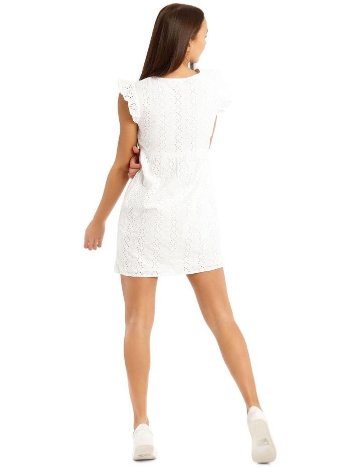 Broderie Ruffle Wrap Dress image 3