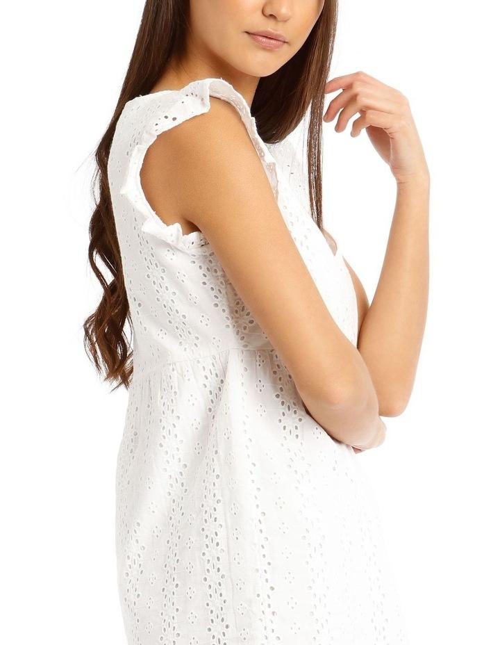 Broderie Ruffle Wrap Dress image 4