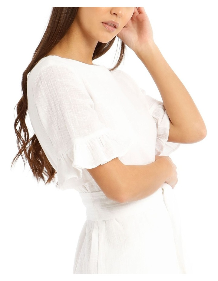 Textured Cotton Wrap Dress image 4