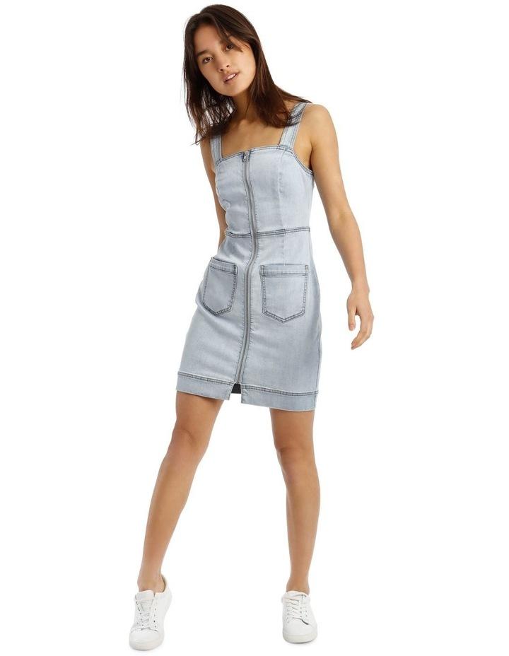 Denim Dress in Light Blue image 1