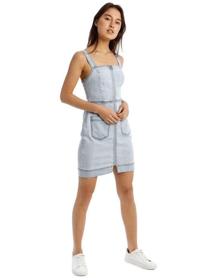 Denim Dress in Light Blue image 2