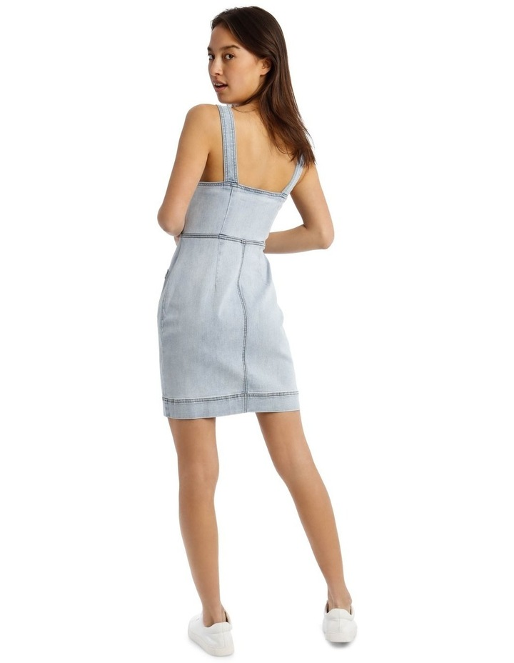 Denim Dress in Light Blue image 3
