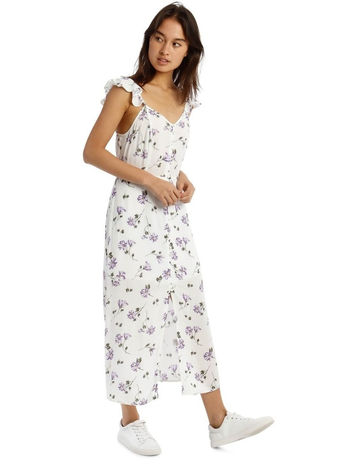Cap-Sleeve Floral Midi Dress image 2
