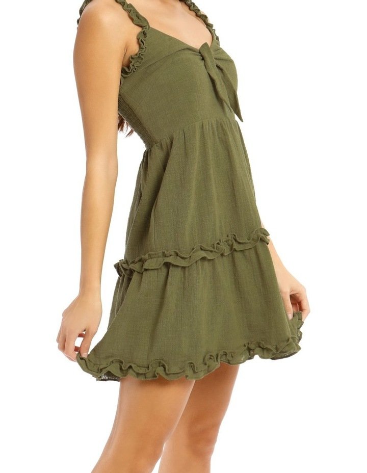 Tie Front Ruffle Detail Dress image 4
