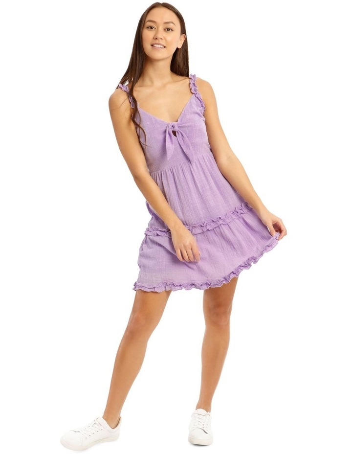 Tie Front Ruffle Detail Dress image 1