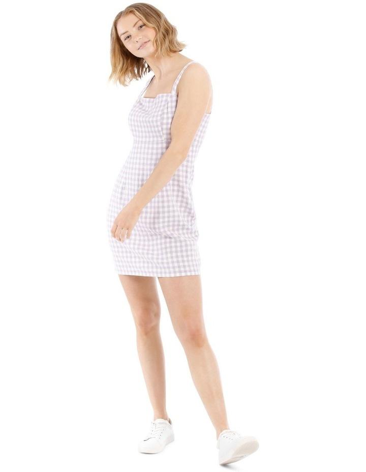 Linen Blend Apron Front Dress image 1
