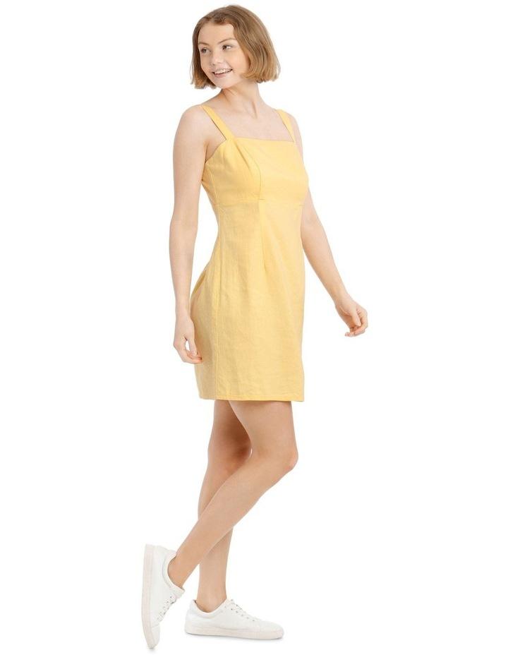 Linen Blend Apron Front Dress image 2