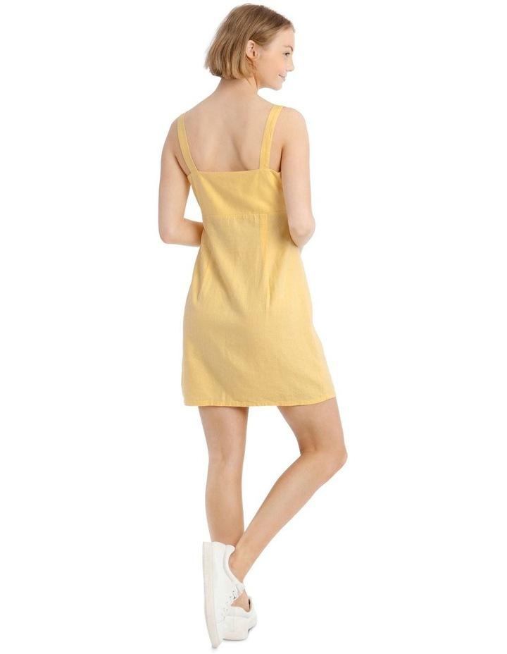 Linen Blend Apron Front Dress image 3