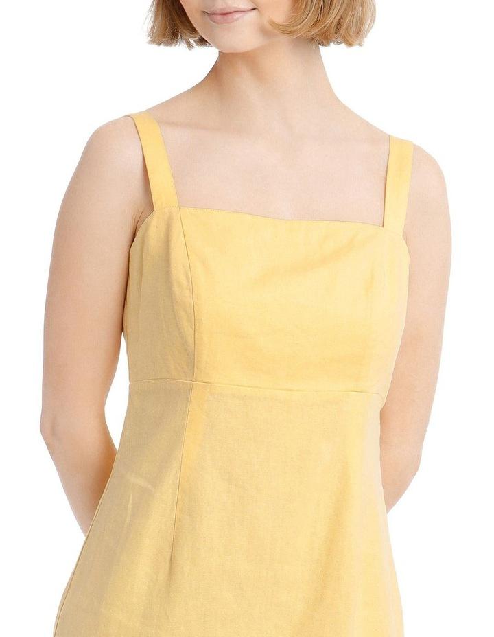 Linen Blend Apron Front Dress image 4