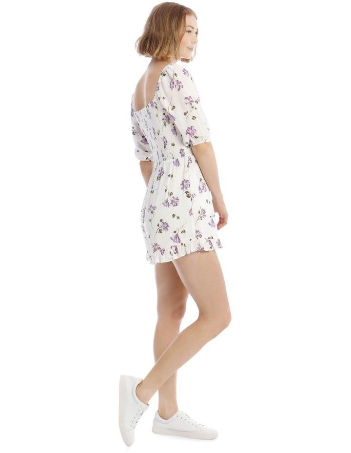 Shirred Bodice Puffy Sleeve Playsuit image 2