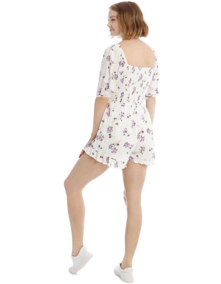Shirred Bodice Puffy Sleeve Playsuit image 3
