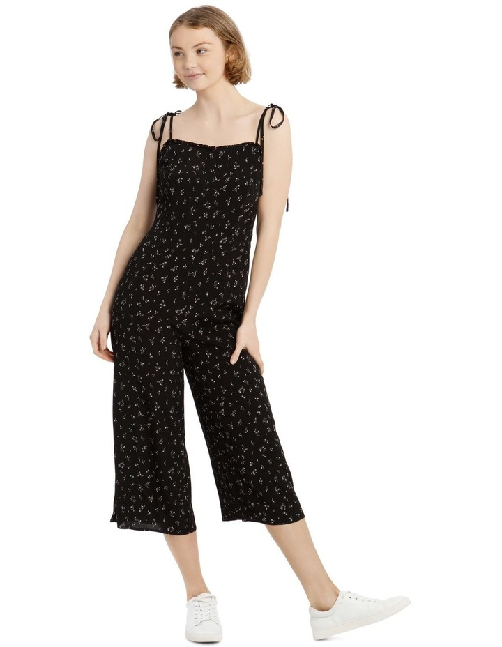 Floral Print Jumpsuit with Shoulder Ties image 1
