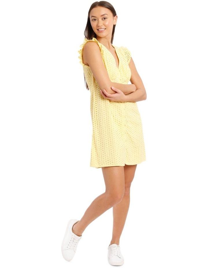 Vee Neck Broderie Dress image 1