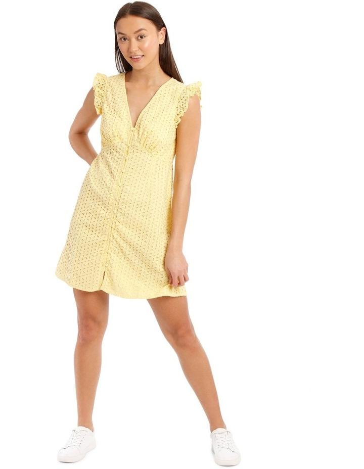 Vee Neck Broderie Dress image 2