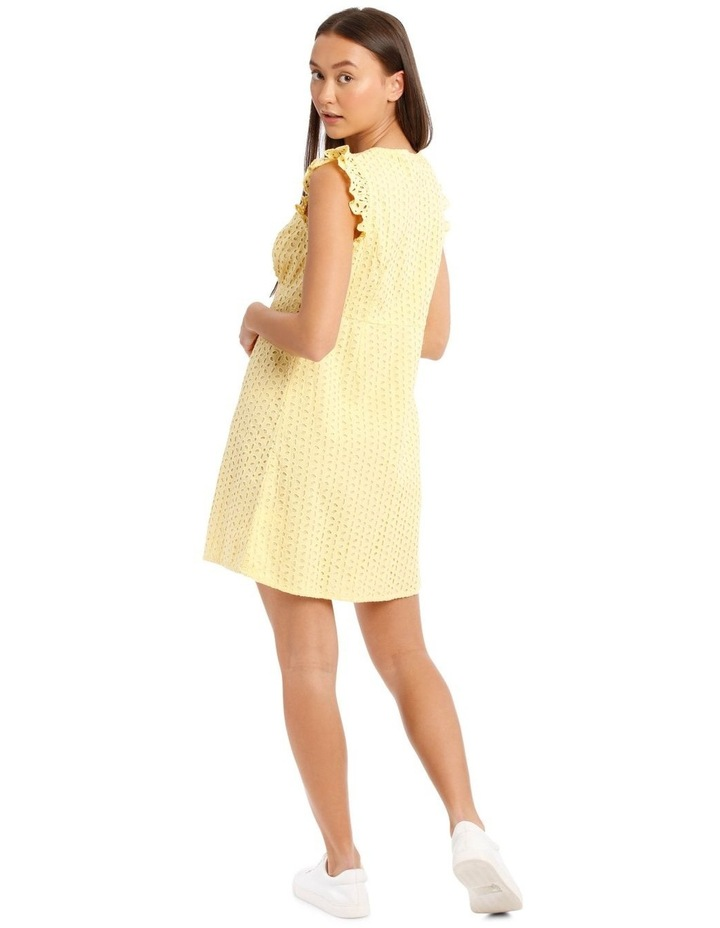 Vee Neck Broderie Dress image 3