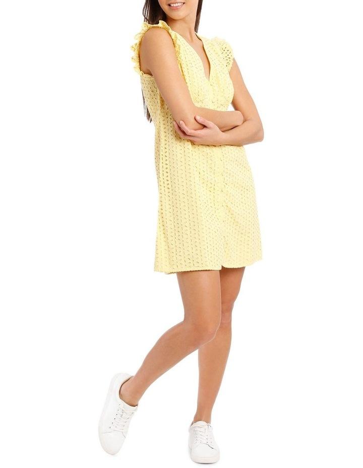 Vee Neck Broderie Dress image 5