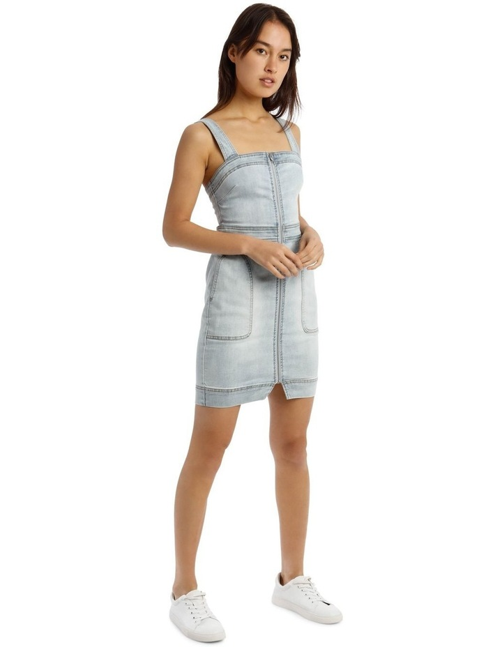 Zip Thru Utility Pocket Denim Dress image 2