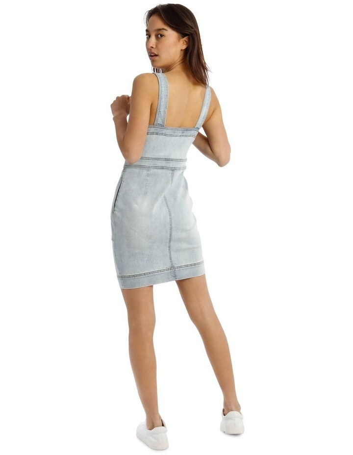 Zip Thru Utility Pocket Denim Dress image 3