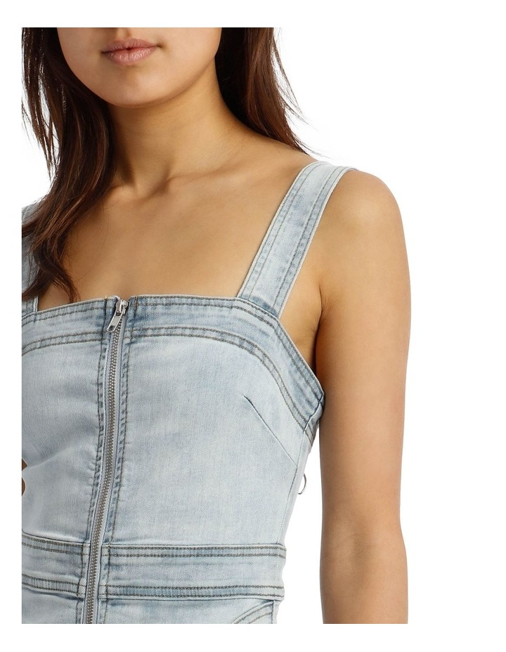 Zip Thru Utility Pocket Denim Dress image 4