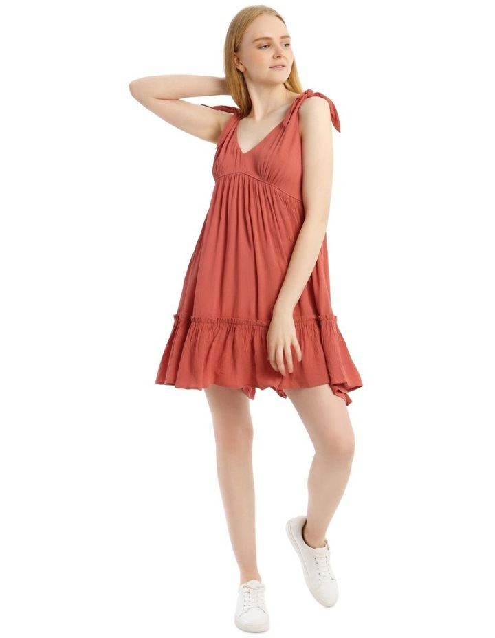 Cheesecloth Tie Shoulder Dress image 1