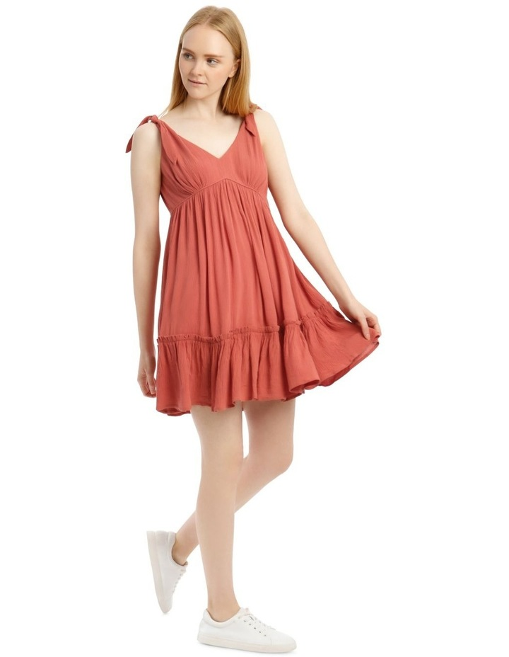 Cheesecloth Tie Shoulder Dress image 2