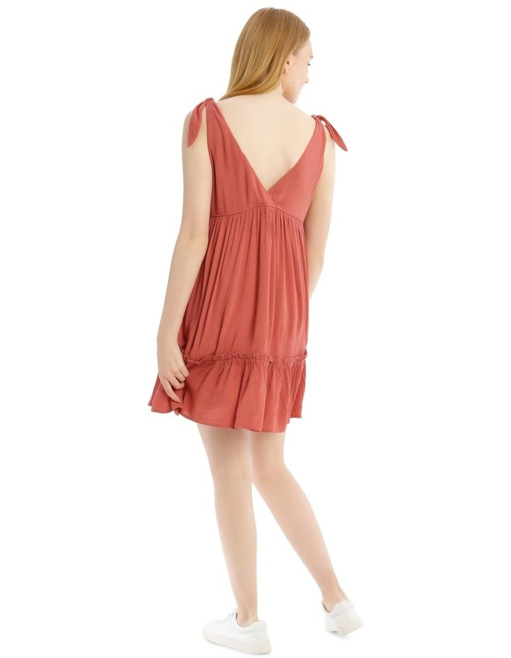 Cheesecloth Tie Shoulder Dress image 3