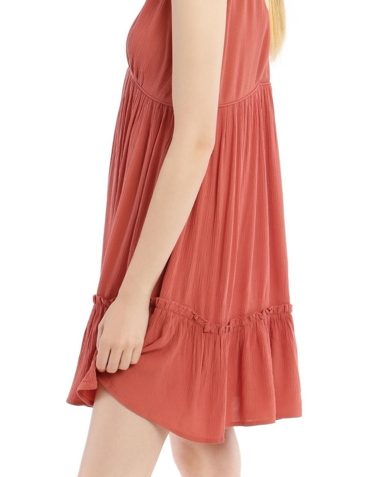 Cheesecloth Tie Shoulder Dress image 4