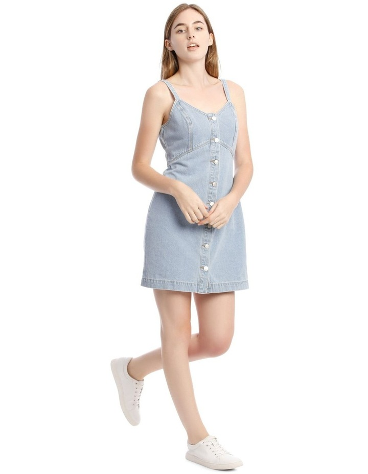 Light Blue Button-Down Denim Dress image 1