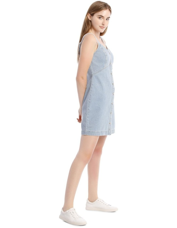 Light Blue Button-Down Denim Dress image 2