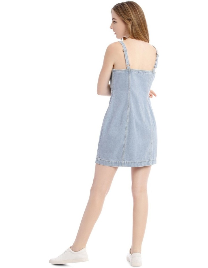 Light Blue Button-Down Denim Dress image 3