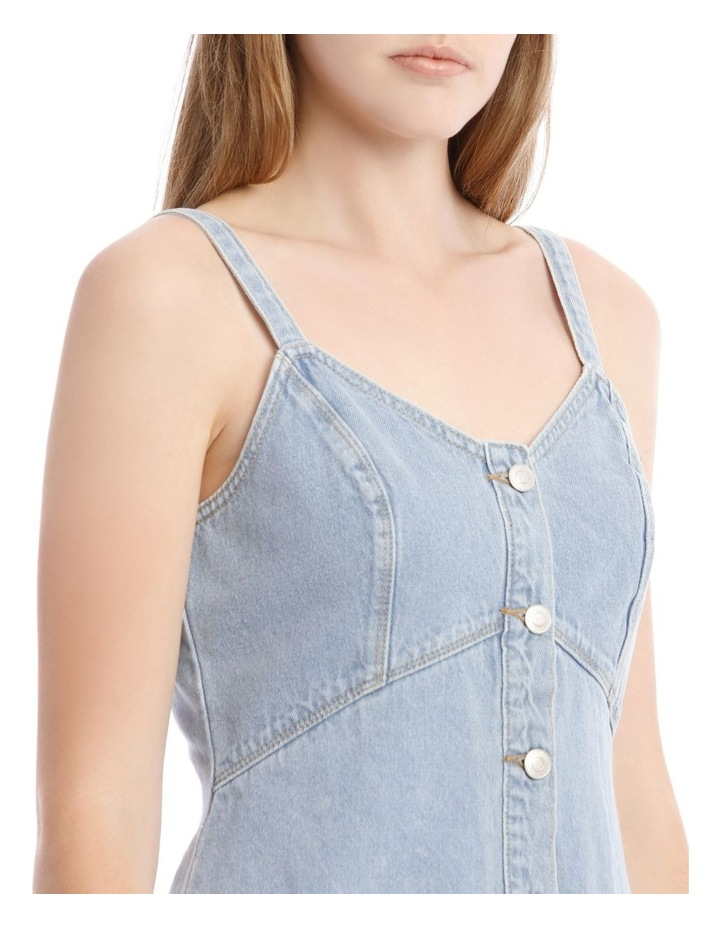 Light Blue Button-Down Denim Dress image 4