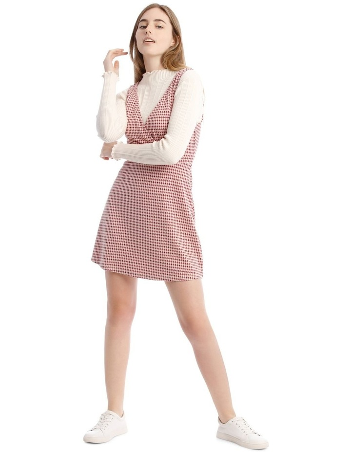 Sunset Red Houndstooth Dress image 1