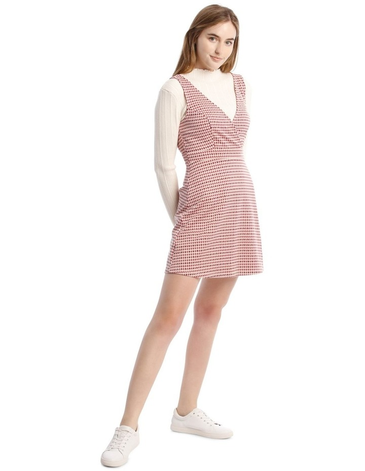 Sunset Red Houndstooth Dress image 2