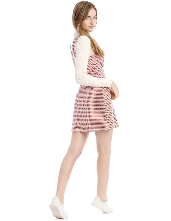 Sunset Red Houndstooth Dress image 3