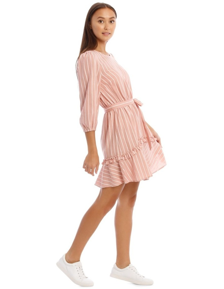 Tie Waist Pink Stripe Dress image 2