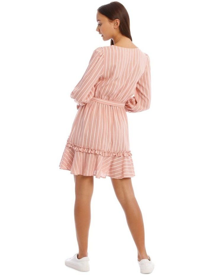Tie Waist Pink Stripe Dress image 3