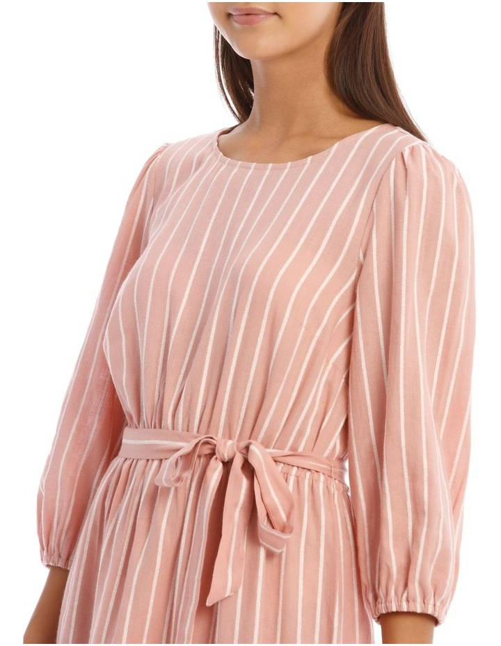 Tie Waist Pink Stripe Dress image 4