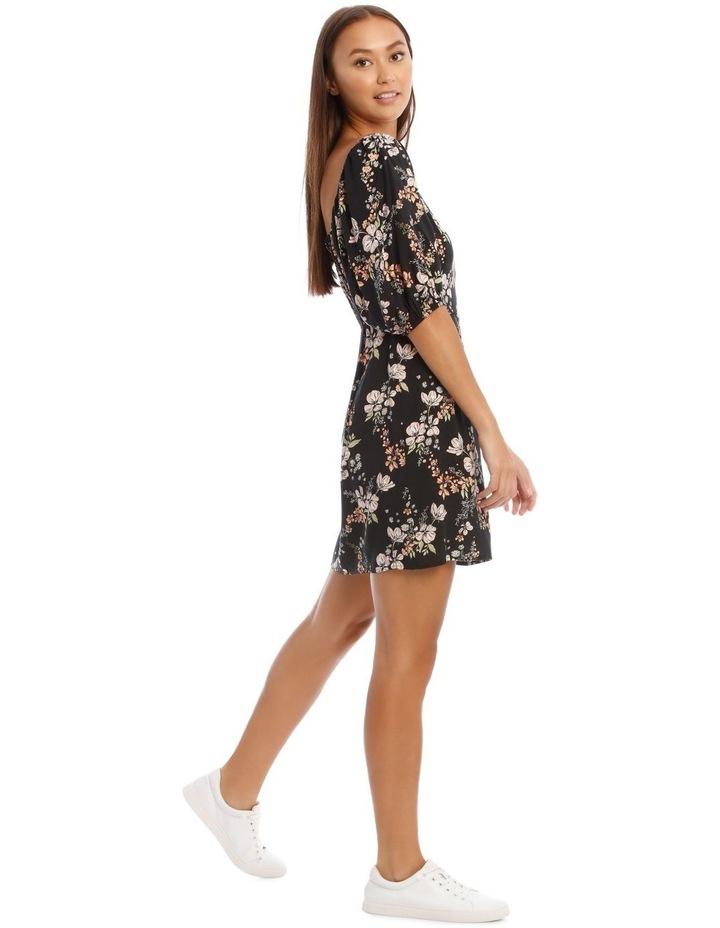 Square Neck Puff Sleeve Dress image 2