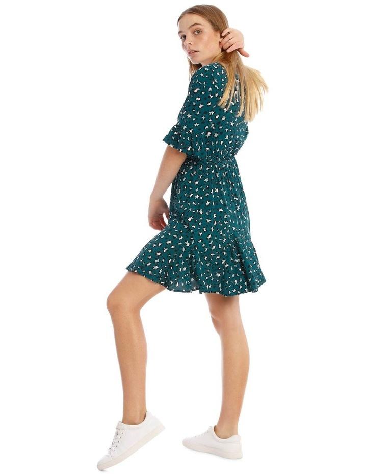 Godet Skirt Wrap Front Dress image 2